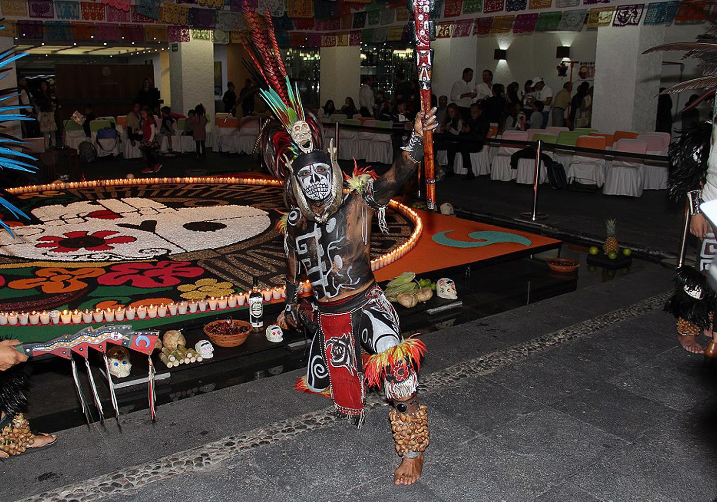 Decoración temática de la historia Azteca