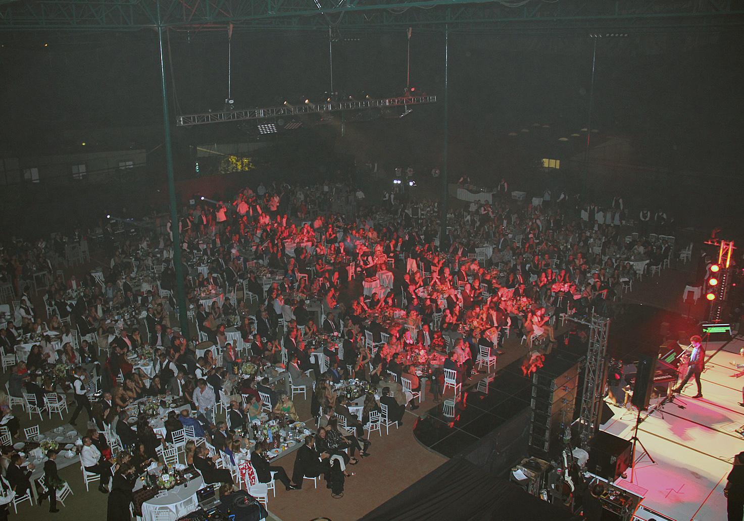 Vista aérea del público en un espectáculo musical