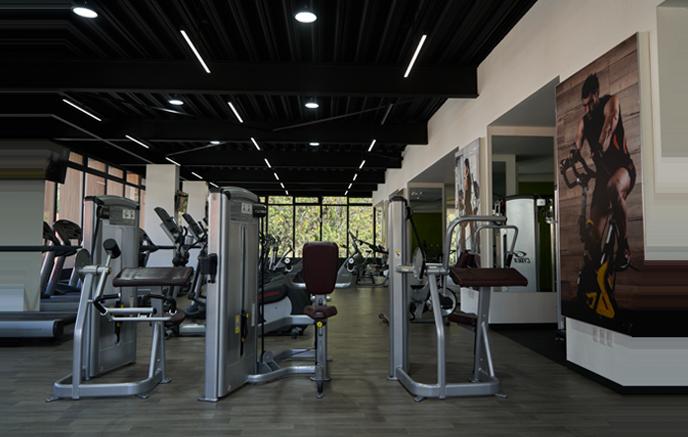 Zona del gimnasio con máquinas de musculación