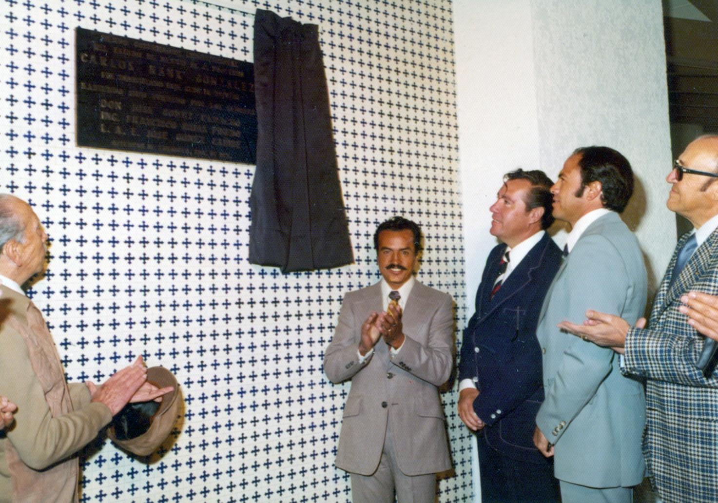 Inauguración de la placa conmemorativa de Carlos Hank González