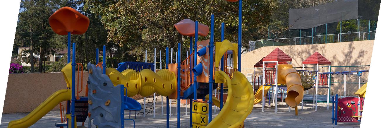 Zona de juegos para los niños y niñas
