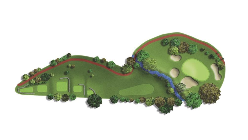 Mapa del hoyo 12