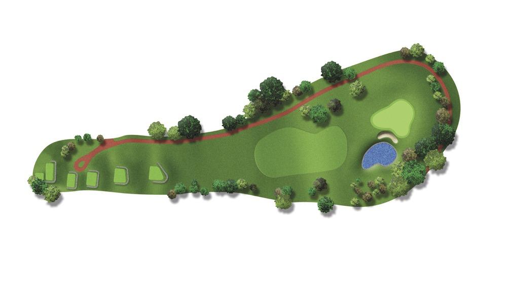 Mapa del hoyo 15