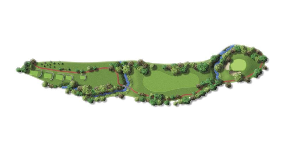 Mapa del hoyo 16