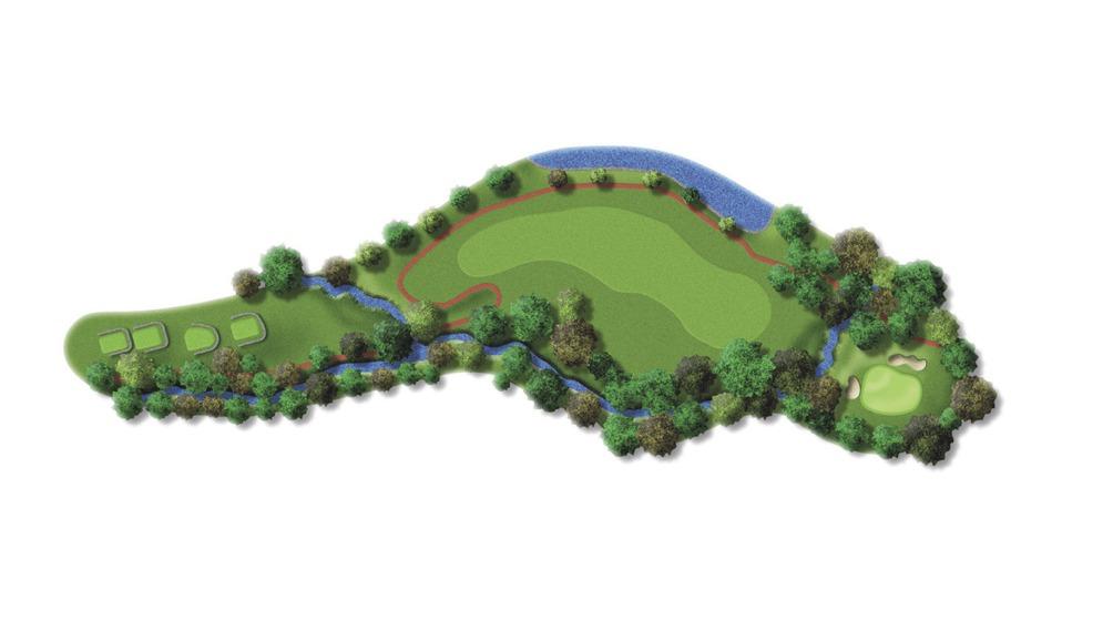 Mapa del hoyo 17