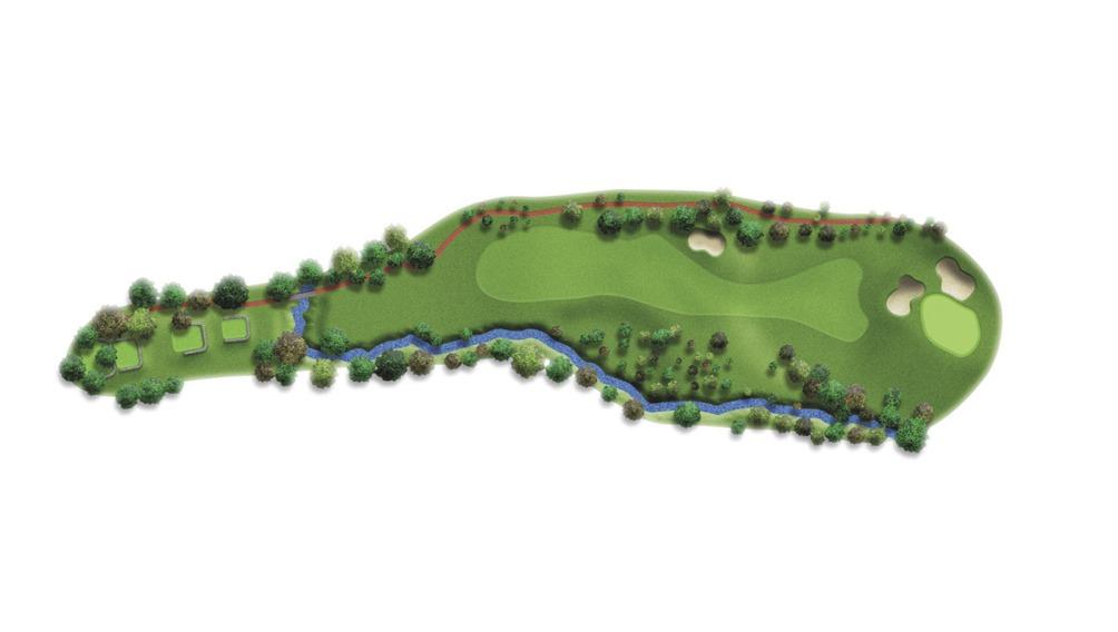 Mapa del hoyo 18