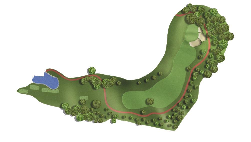 Mapa del hoyo 1