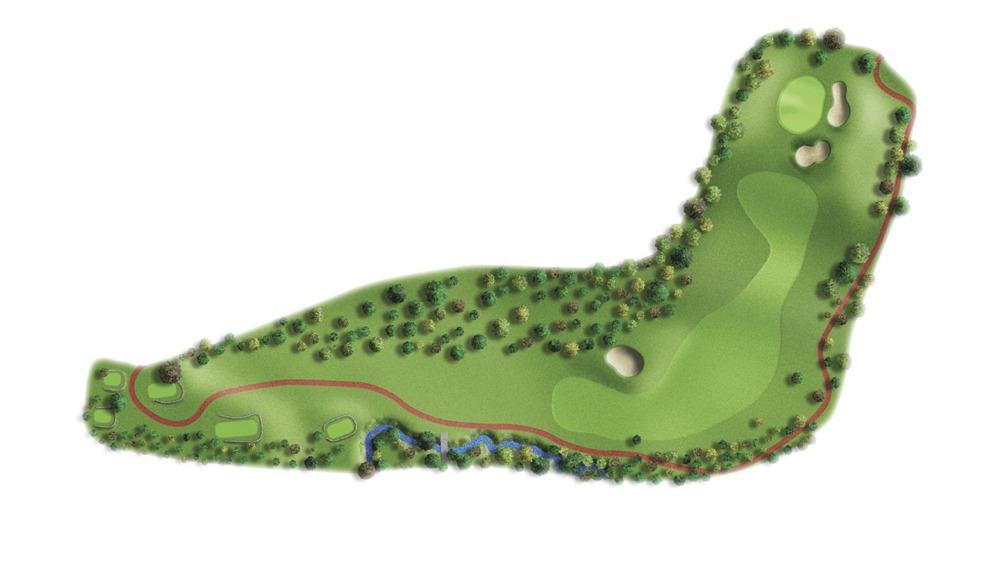 Mapa del hoyo 4