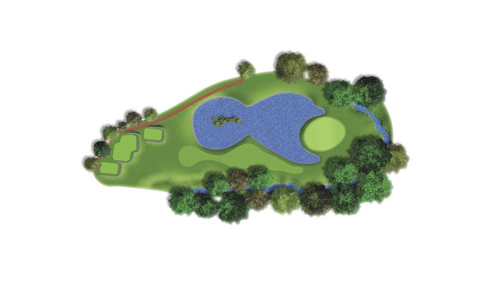 Mapa del hoyo 8