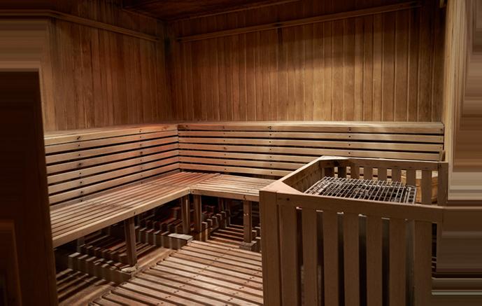 Sala de sauna de los vestuarios